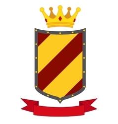 Heraldic premium quality emblems flat set with vector