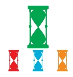 Hourglass sign Colorfull set vector image