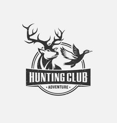 Hunting club logo vector