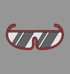 Icon in flat design ski goggles vector