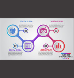 infographics business 4 steps concept template vector image