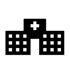 isolated hospital building icon vector image