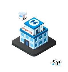 Isometric hospital icon building city infographic vector