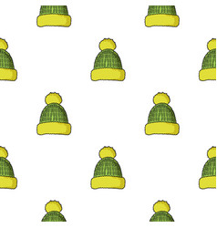 Knit cap icon in cartoon style isolated on white vector