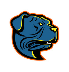 Leavitt bulldog head mascot vector