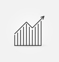 line chart with arrow thin concept vector image