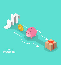 Loyalty program flat isometric concept vector