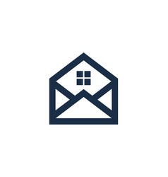 mail house logo icon design vector image