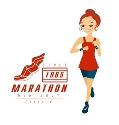 Marathon Running Woman Cartoon vector image