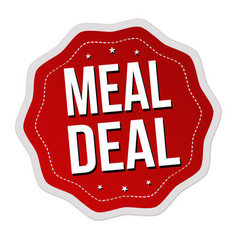 meal deal label or sticker vector image