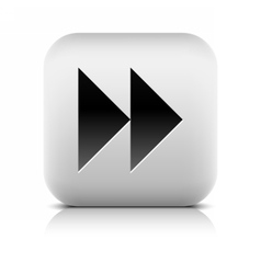 Media player icon with next forward sign vector