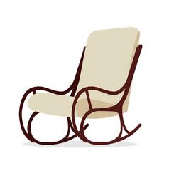 Modern rocking chair flat vector