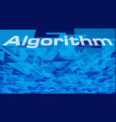 new technology algorithm geometric triangle vector image