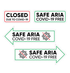 office closed safe aria arrows sign vector image