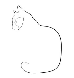 one line cat design silhouette vector image