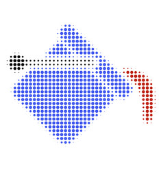 paint bucket halftone icon vector image