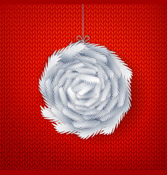 Paper cut ball made from branches vector