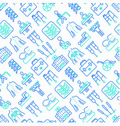 Physiotherapy seamless pattern vector