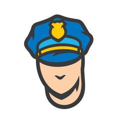 policeman head sign vector image
