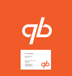 q b monogram lines business card vector image