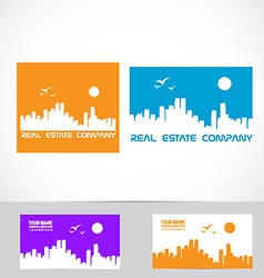 Real estate city scape logo vector
