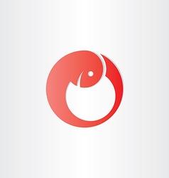 Red embryo development baby symbol vector