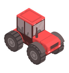red tractor icon isometric style vector image