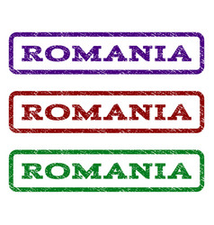 Romania watermark stamp vector