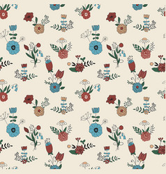 Seamless pattern with spring bouquets vector