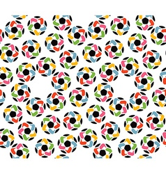 seamless texture soccer balls and united hands vector image