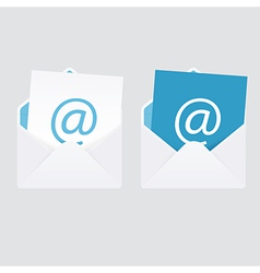 Set of 2 abstract e-mail envelope icons vector