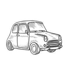 Set with cars vector