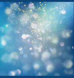 Shimmering blur background with shining lights vector