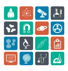 Silhouette Science and Education Icons vector