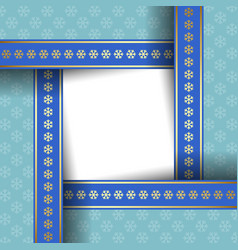 simple winter card template or document background vector image