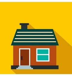 Small cottage flat icon vector