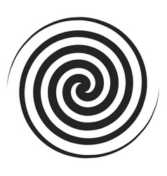 spiral black icon geometric twirl and rotation vector image