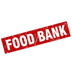 square grunge red food bank stamp vector image