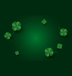 st patricks day banner design clover leaves vector image