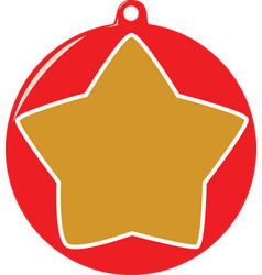 Star bauble vector
