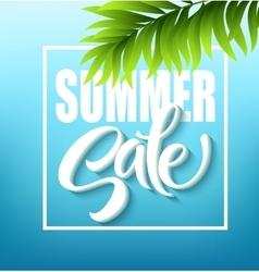 Summer sale lettering on blue background vector
