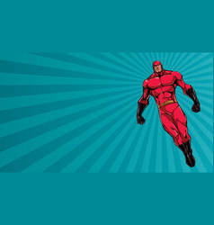 superhero flying ray light background vector image
