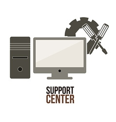 Support center design vector