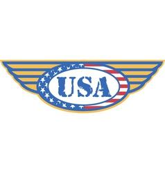 Vintage Patriotic American Logos vector image