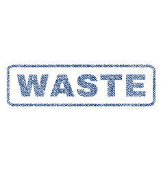 Waste textile stamp vector