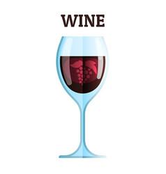 wine glass icon modern minimal flat design vector image