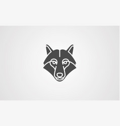 wolf head icon sign symbol vector image