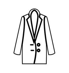 woman overcoat it is black icon vector image