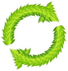 Wreath green laurels vector