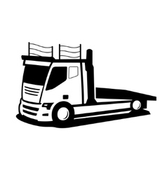 Wrecker car sign vector